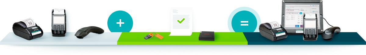 Вы покупаете: фaискальный регистратор, 2D сканер, POS-терминал. Мы дарим комплект для ЕГАИС: АТОЛ Hub-19, прошитый ключ JaCarta, Оформляем документы. Вы получаете: Облачная касса i-Retail для ЕГАИС